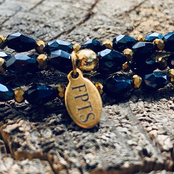 Sautoir Perles de Riz darkblue