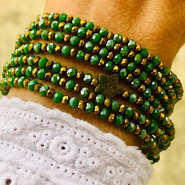 sautoir Eyline vert