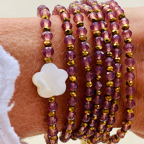 Sautoir Fedor en perles à facettes